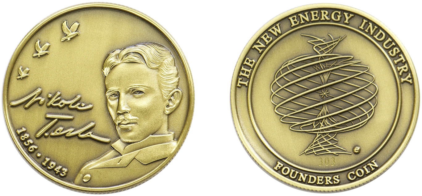 Nikola Tesla, coin, energy, new energy,