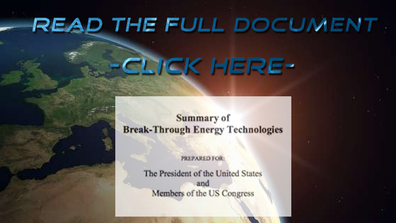 2014 – A Summary of Breakthrough Energy Technologies