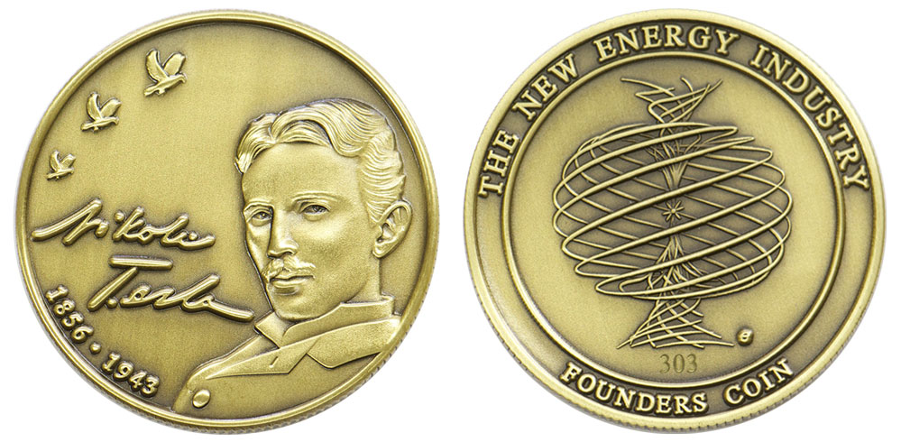 Nikola Tesla tribute Founders Coin