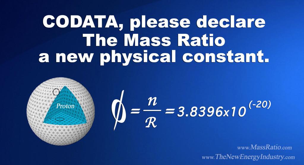 mass ratio, CODATA